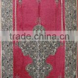 Indonesia Colorful New Muslim Yarn-dyed Jacquard Complicated Design Chenille Fashion Prayer Rug XN-008