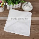 100% cotton satin band white table napkins/restaurant linen/100% cotton jacquard stripe napkin/