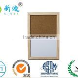 wooden frame pins and magnet writing board/sandy-whiteboard