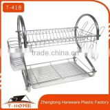 2 tiers Chrome Finished Dish Rack / Kitchenware Dish Drying Rack / Dish Drainer