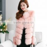 Factory directly wholesale price women fashion red fox fur vest /real fox fur vest-MOQ:1 Piece