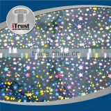 Holographic transparent holographic lamination film and transfer printing foil
