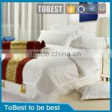 ToBest Hotel supplies Wholesale Egyption plain white 100% cotton hotel bedding set / bed sheets / hotel linen
