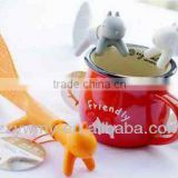 Amico Orange Plastic Squirrel Shaped Non-stick Rice Spoon Scoop