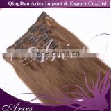 High quality factory direct wholesale Brazilian remy human hair clip in hair extension cheap price