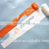 factory price garbage bags with handles, plastic material garbage bags