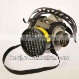 High quality TPE frame half face respirator half face chemical gas mask with single cartridge gas mask