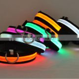 LED dog collar with USB rechargeable