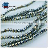 Pujiang tyre rondelle glass beads wholesale crystal beads strands                                                                                                         Supplier's Choice