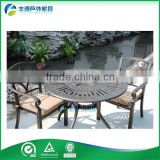 China factory outdoor furniture cast aluminum bar height table and bar stools garden chair