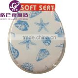GLD Hot Sales PVC Adult soft Flowery Color toilet seats / WC Seat Image Printed Color Soft Toilet Seat lid For toilet
