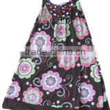 child garments girls flower printed dress girls one piece halter dress