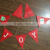 festival red printed paper banner