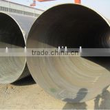 3PE 3PP FBE black varnished coating large size spiral welded steel pipe for oil and gas transpotation