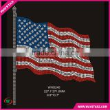 Ameican Flag Rhinestone Glass Beads Wholesale Heat Press Transfers