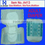 Ultrathin Adult Diapers with Soft and Dry Cover(A413)