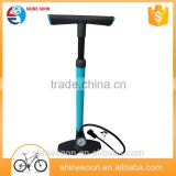High quality portable bike tire inflator bicycle floor pump gauge green