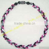 New design high quality germanium useful oem triple braided titanium sports necklace