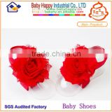 China manufactory direct supply cheapest red baby sandals summer