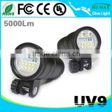 5000 Lumen LED Diving Flashlight Waterproof 100 meters                                                                         Quality Choice