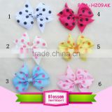 Cute style ribbon bows hair bows hair ribbon basic bows with dots