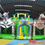 2016 New Design Inflatable Jungle Animals Bouncers House Slide Inflatable Zebra Slide Elephant Slide Giraffe Slide                                                                         Quality Choice