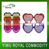 Colorful Window Blinds Heart Shaped Plastic Sunglasses