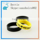 black and yellow vape ring for eliquid glass dropper bottles China wholesale vape ring