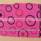 DARK PINK CIRCLE PRINT COTTON FABRICS FOR APPARELS FOR WOMENS GIRLSWEAR HOME TEXTILES MAKING AND MANY USE FOR HOME
