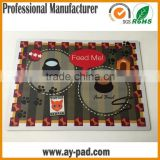 AY Custom Printed Decrative Rubber Desk Pad Pvc Laminated Placemats For Home