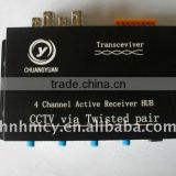 4 Channel Active Transceiver HUB CCTV Video Balun