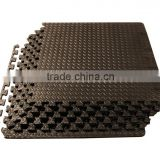 Black Puzzle Exercise Mat High Quality EVA Foam Interlocking Tiles