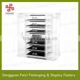 Transparent new invention acrylic makeup display with drawer