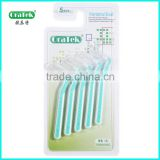 thick nylon bristles and stainless steel wire interdental tooth brush