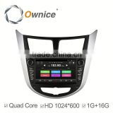 Ownice car dvd GPS NAVI player for Hyundai Verna Accent with mp3 player gps audio rds bluetooth multimedia car radio DAB