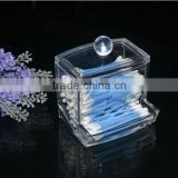 New Creative Clear Acrylic Q-Tip Storage Holder Box Transparent Cotton Swabs Stick Cosmetic Makeup Organizer Case