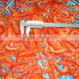 Frozen red pepper strip High Quality IQF Red Pepper Diced strip