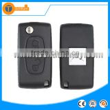 with battery remote key blank for Citroen/Peugeot 307,C4,C5,C2,C3,C1,Picasso,Xsara,Berlingo 2 button flip remote key case shell
