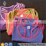 Running vest female quick dry coat color - yoga yoga clothing wrapping Korean sleeveless T-shirt