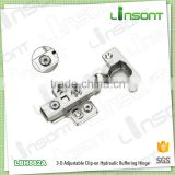 2016 hot sale 3-D adjustable hydraulic clip on garden gate hinge cabinet furniture hinges