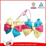 Brightly color 3 inch Grosgrain Ribbon Boutique Hair Bows With Clip Hairpins For Kids Girl Hair Accessories