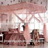 New Stainless steel Frame Design rectangular Palace Mosquito Net Decorative Bed Canopy Mosquito netting