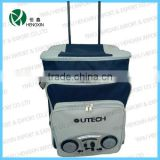 strong trolley cooler bag with multi pockets with radio