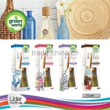 Green World Air Freshener with bamboo sticks
