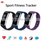"New Arrival Waterproof Heart Bracelet 0.91"" Touch OLED Screen Bluetooth Sport Fitness Tracker With Call SMS Reminder"