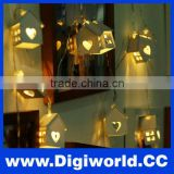 Wood Loving Heart Decoration 10LED String Light Party Fairy Lighting Bedroom