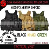 2017 hot military tactical vest with pistol / gun holster Pouches in Green color tactical vest
