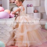 2017 baby girl party dress children frocks designs ruffle embroidered lace wedding dress