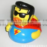 floating superman rubber duck ,rubber superman bath duck toy ,baby plastic superman duck toy