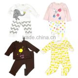 S32704W New Children Clothes Sets Baby Girls Sleepwear Long Sleeve Leisure Wear Kids Pajamas